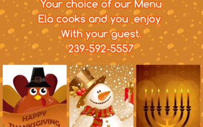 Holiday Catering Available for your Family and  Friends Dinners or Parties